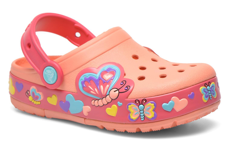Sandales et nu-pieds Crocs CrocsLightsButterflyClogPS Rose vue détail/paire