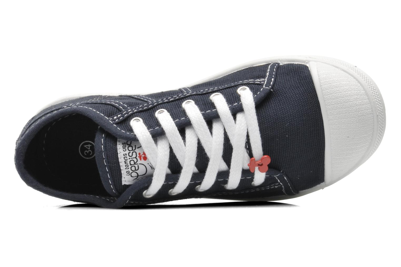 Sneakers Le temps des cerises Lc Basic 02 Azzurro immagine sinistra