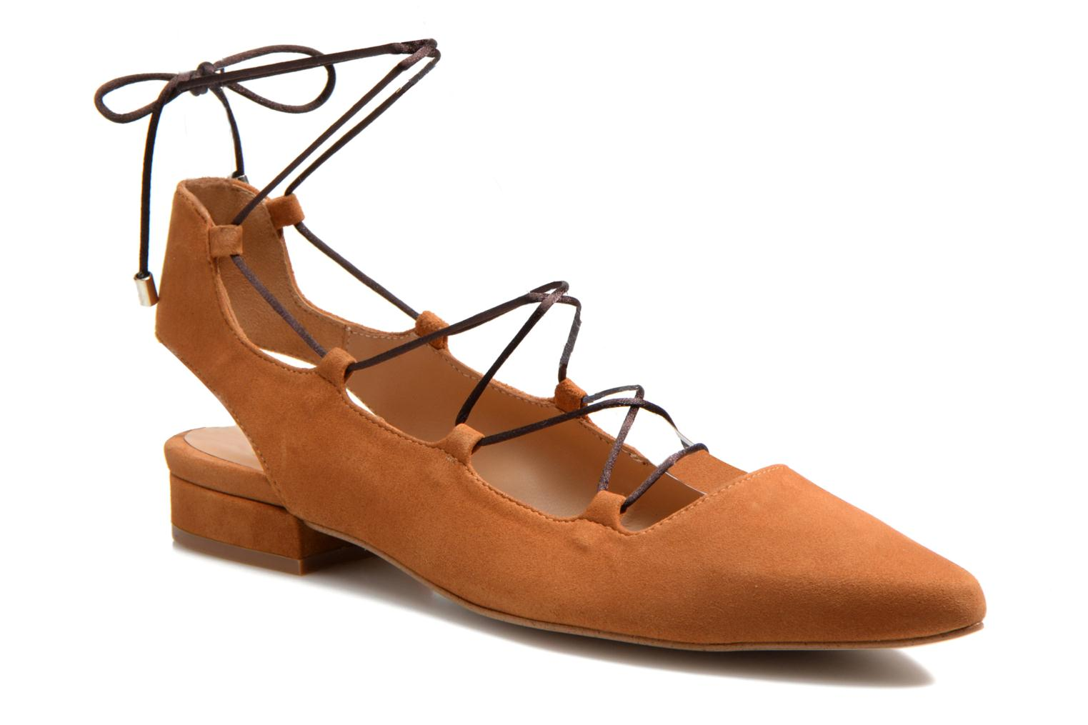 Ballet pumps Made by SARENZA Seven Tease #3 Brown view from the right