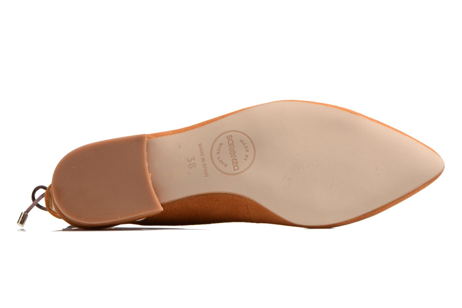 Ballet pumps Made by SARENZA Seven Tease #3 Brown view from above