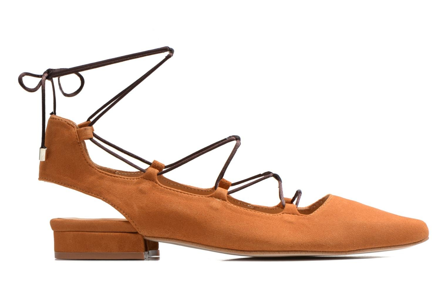 Ballet pumps Made by SARENZA Seven Tease #3 Brown detailed view/ Pair view