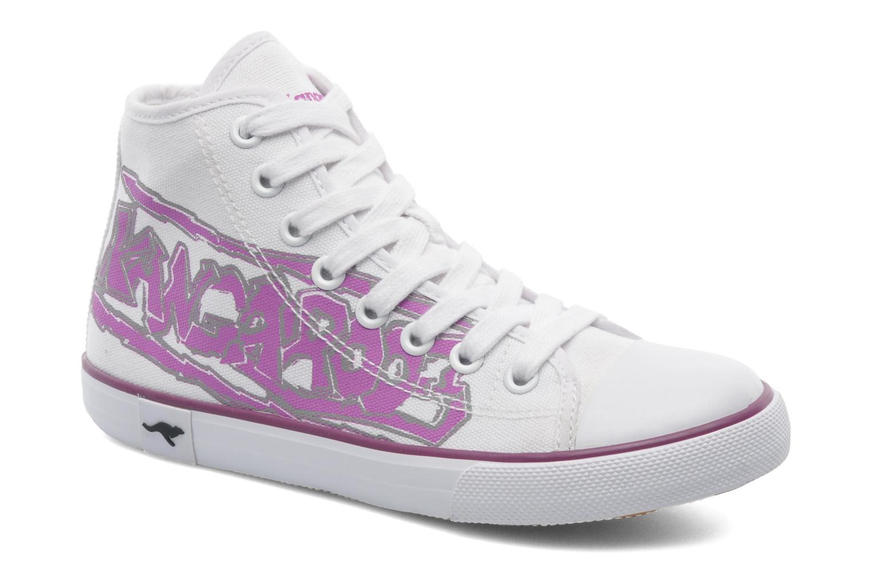Sneakers Kangaroos KangaVulcT 2053 Hvid detaljeret billede af skoene