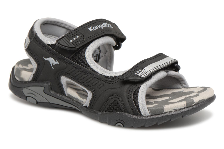 Sandaler Kangaroos Sinclair 2 Sort detaljeret billede af skoene