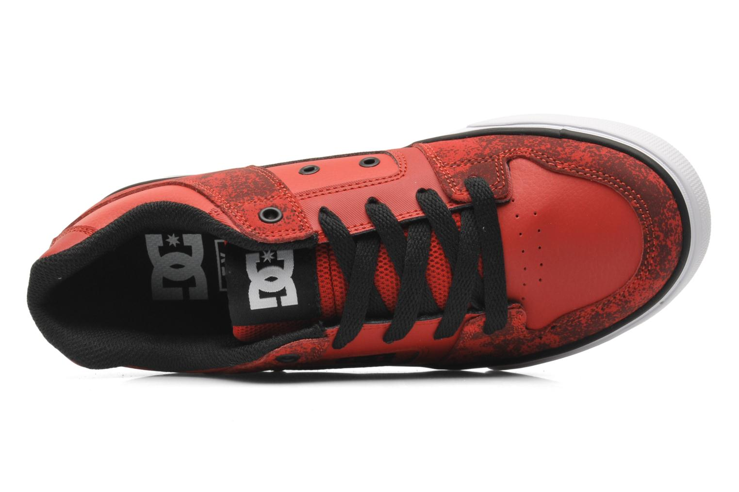 Sneaker DC Shoes PURE SE Kids rot ansicht von links