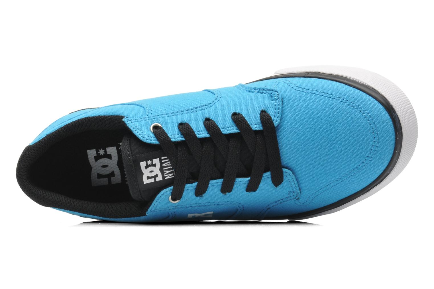 Baskets DC Shoes NYJAH VULC TX Bleu vue gauche