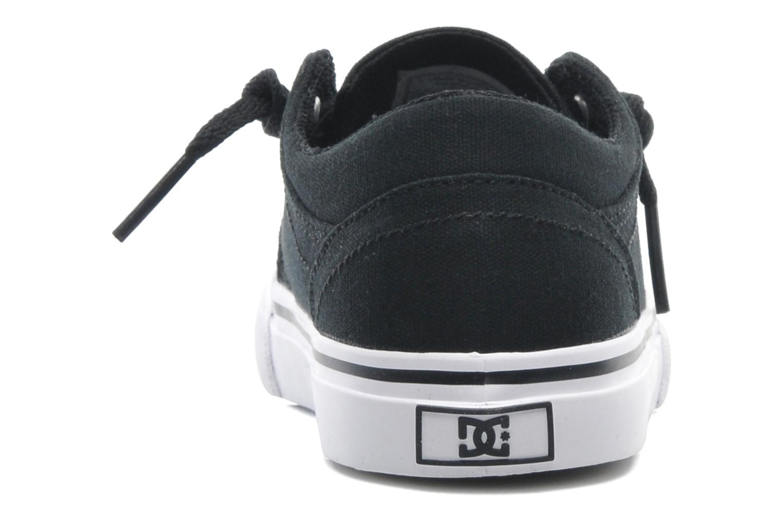 Deportivas DC Shoes TRASE TX Toddler Negro vista lateral derecha