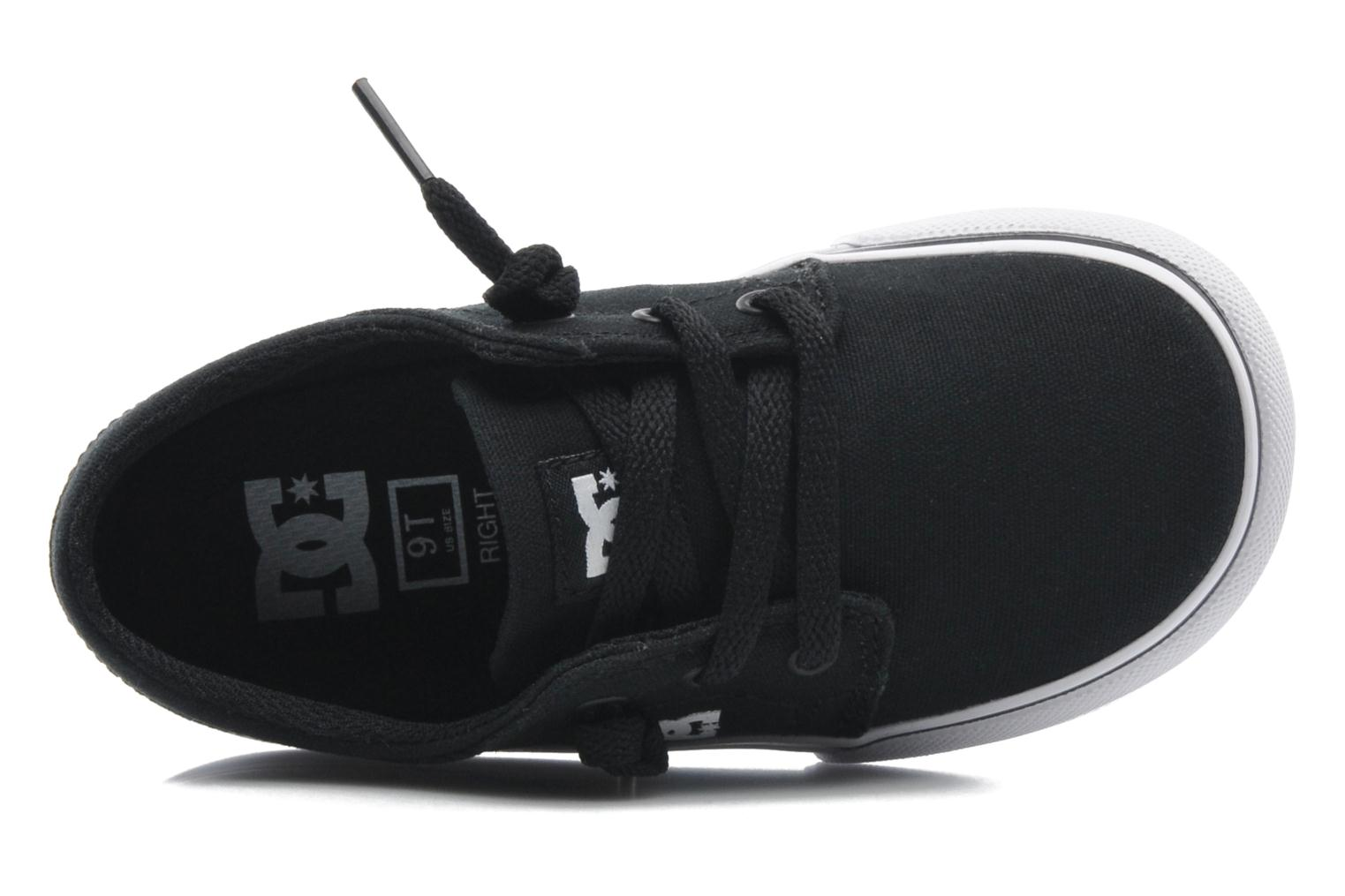 Baskets DC Shoes TRASE TX Toddler Noir vue gauche
