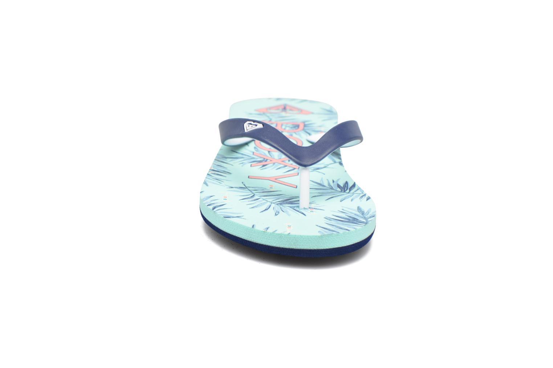 Tongs Roxy Rg Tahiti V Bleu vue portées chaussures