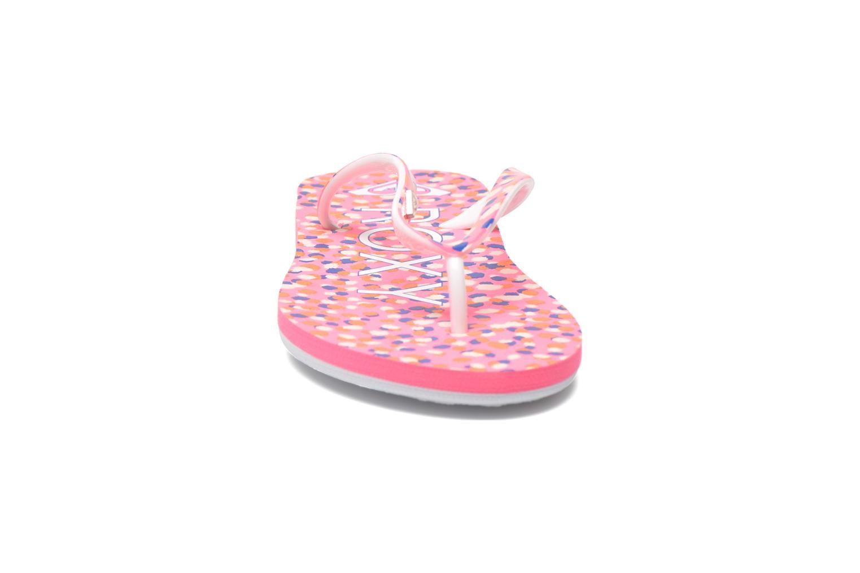 Tongs Roxy Rg Pebbles V Rose vue portées chaussures