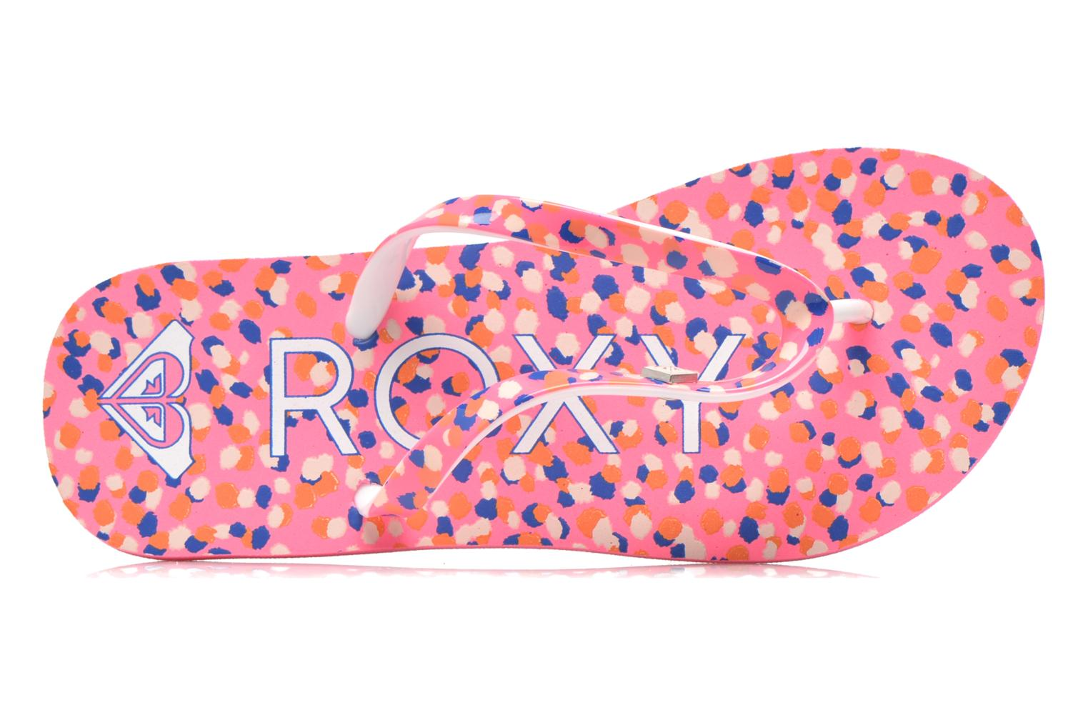 Tongs Roxy Rg Pebbles V Rose vue gauche