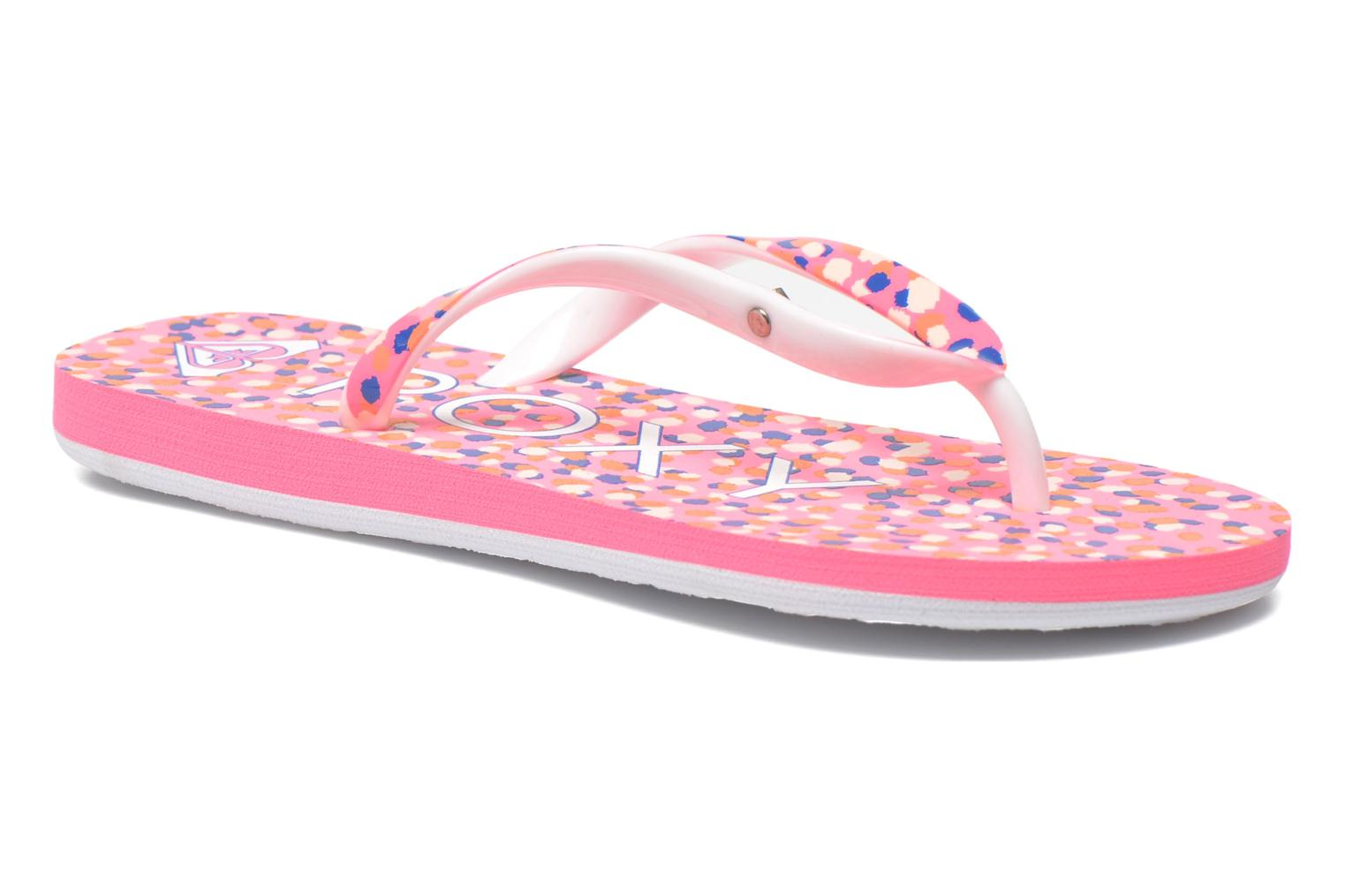 Tongs Roxy Rg Pebbles V Rose vue détail/paire
