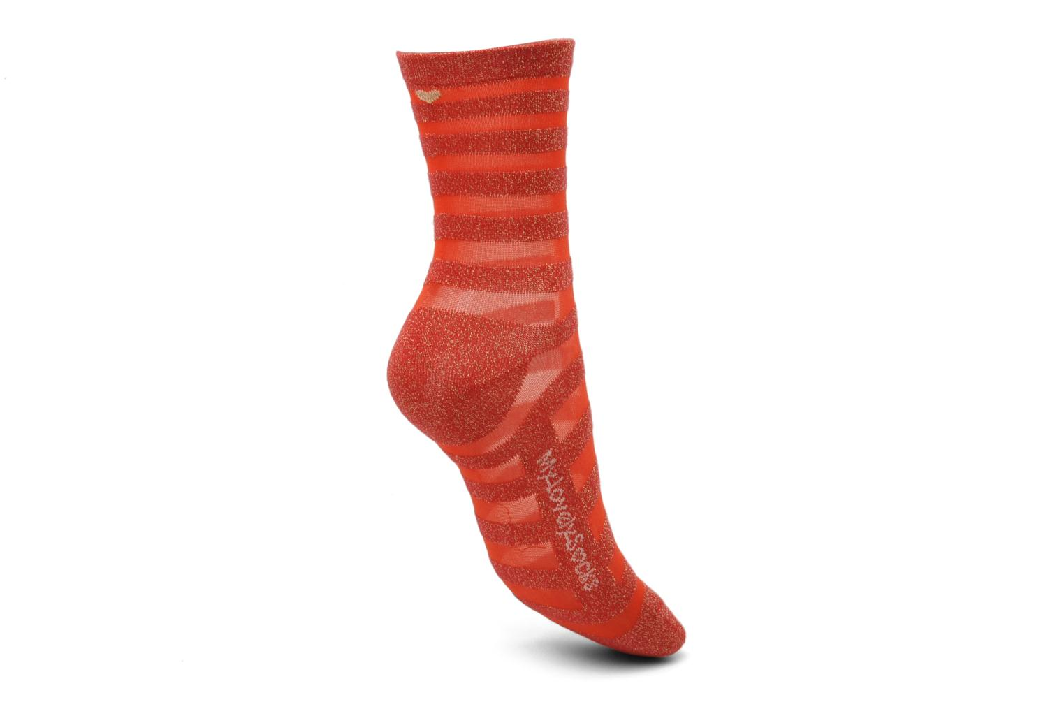 Calze e collant My Lovely Socks Faustine Rosso immagine sinistra