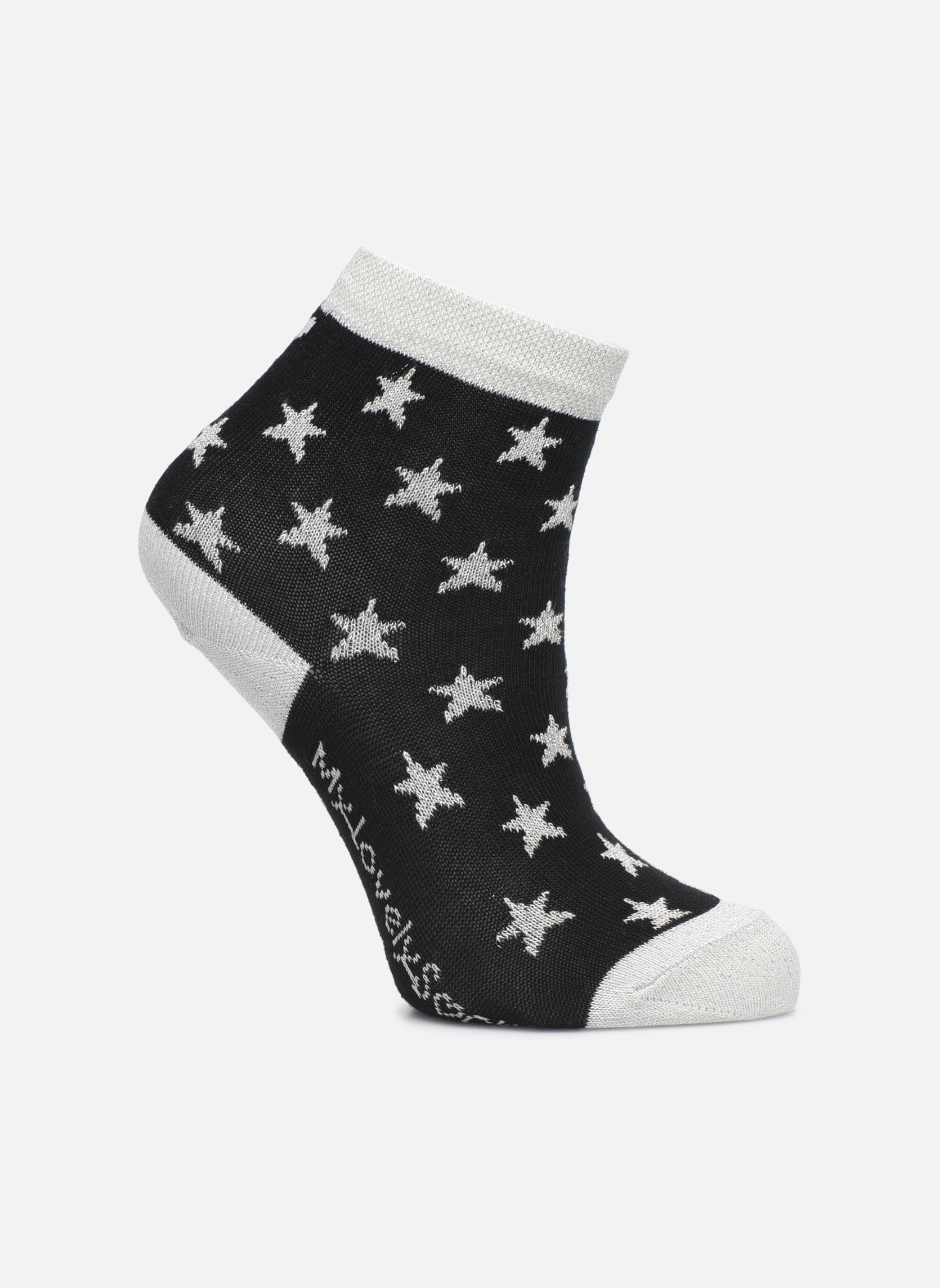 Chaussettes Mixte Celeste Stars noir et gris argenté