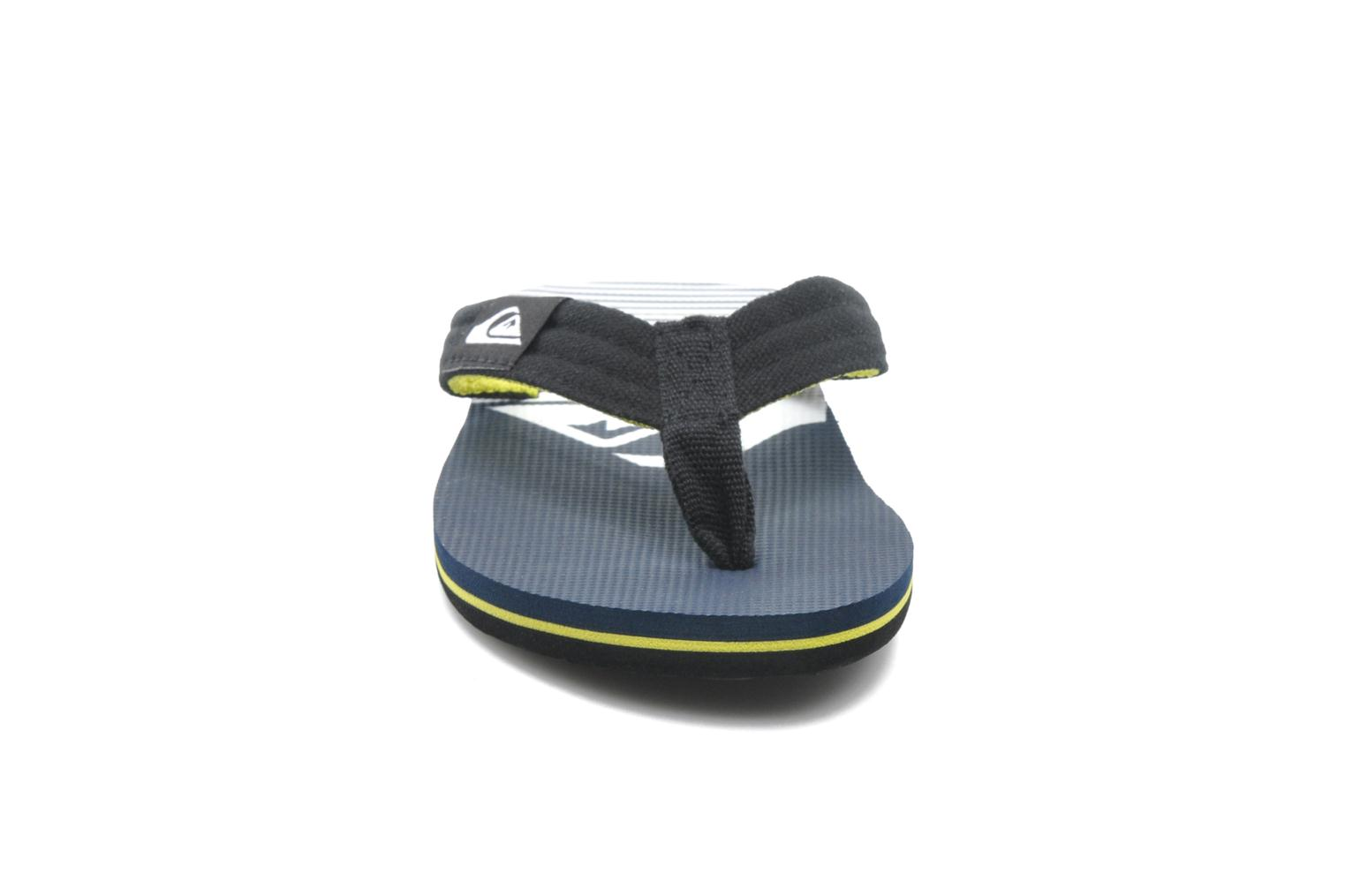 Tongs Quiksilver MOLOKAI LAYBACK YOUTH Multicolore vue portées chaussures