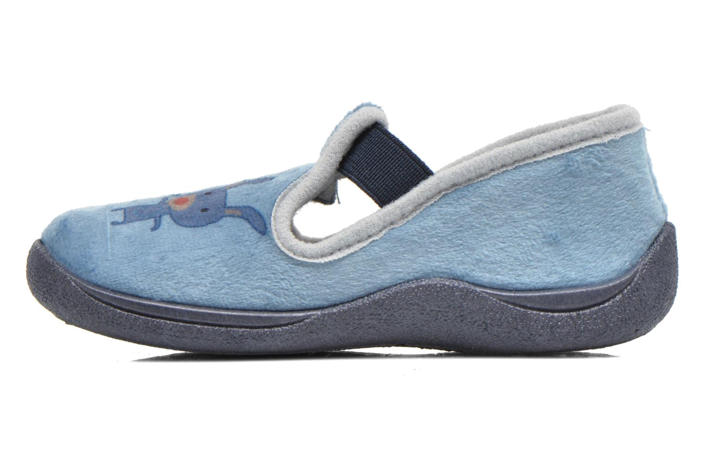 Pantuflas Rondinaud DEFI Azul vista de frente