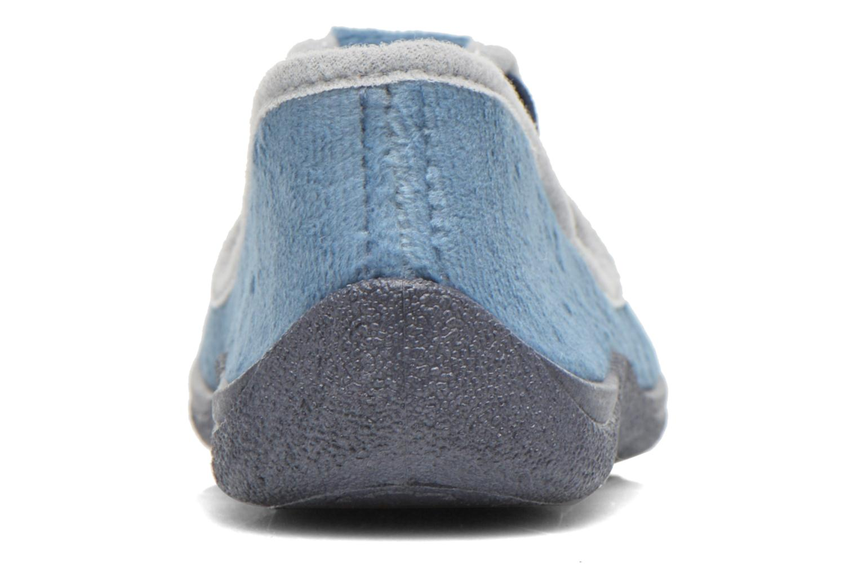 Pantuflas Rondinaud DEFI Azul vista lateral derecha