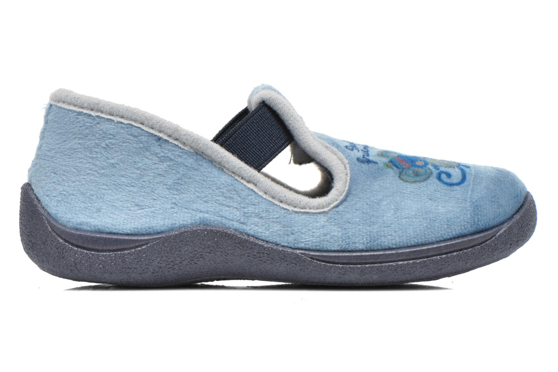 Pantuflas Rondinaud DEFI Azul vistra trasera