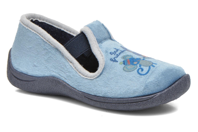 Pantuflas Rondinaud DEFI Azul vista de detalle / par
