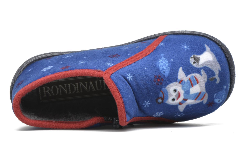 Hausschuhe Rondinaud GESSY blau ansicht von links