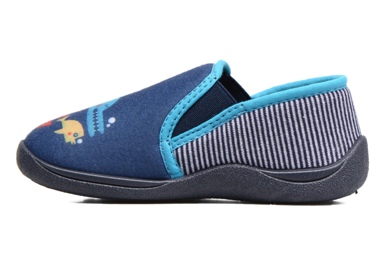 Pantuflas Rondinaud JERRY Azul vista de frente