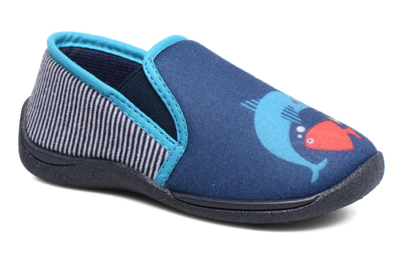 Pantuflas Rondinaud JERRY Azul vista de detalle / par