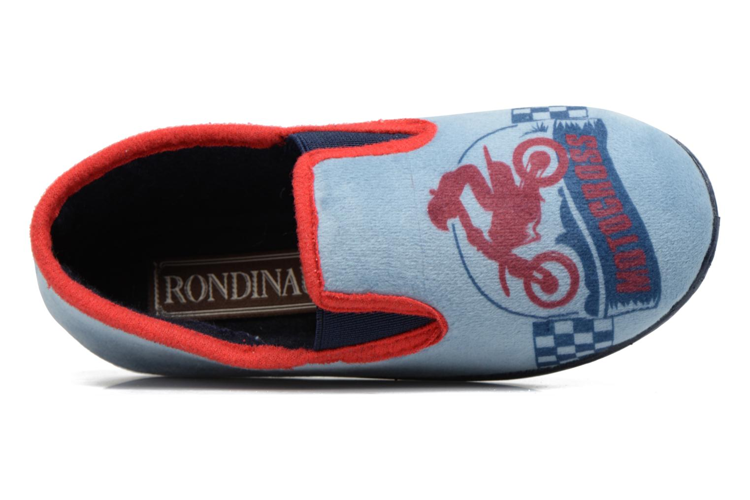 Slippers Rondinaud JAVA Blue view from the left