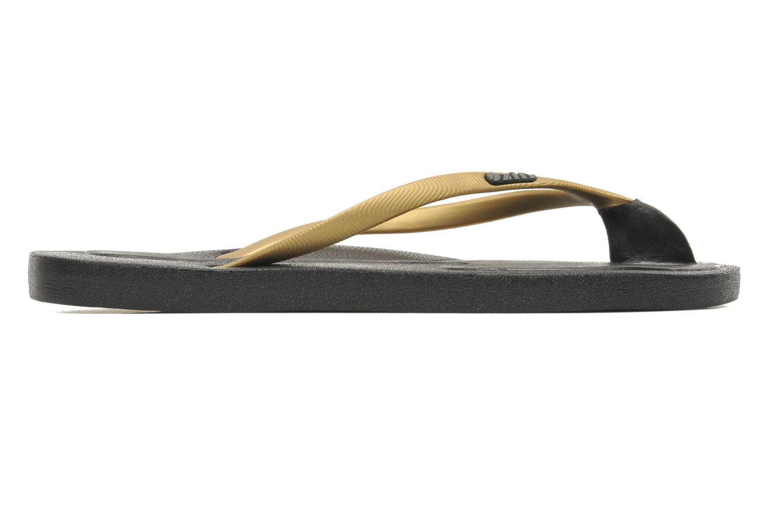 Flip flops Ozify Classic W Bronze and Gold back view