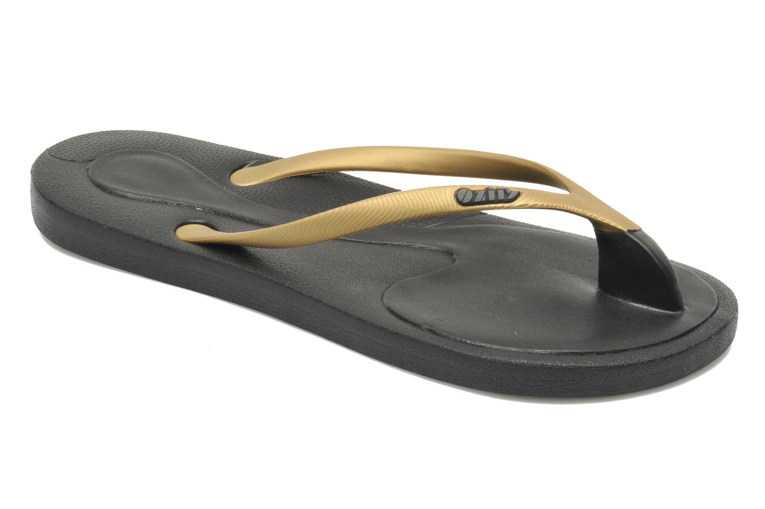 Flip flops Ozify Classic W Bronze and Gold detailed view/ Pair view