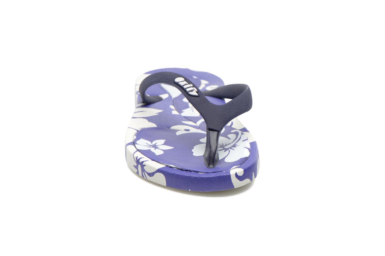 Tongs Ozify Prints M Bleu vue portées chaussures