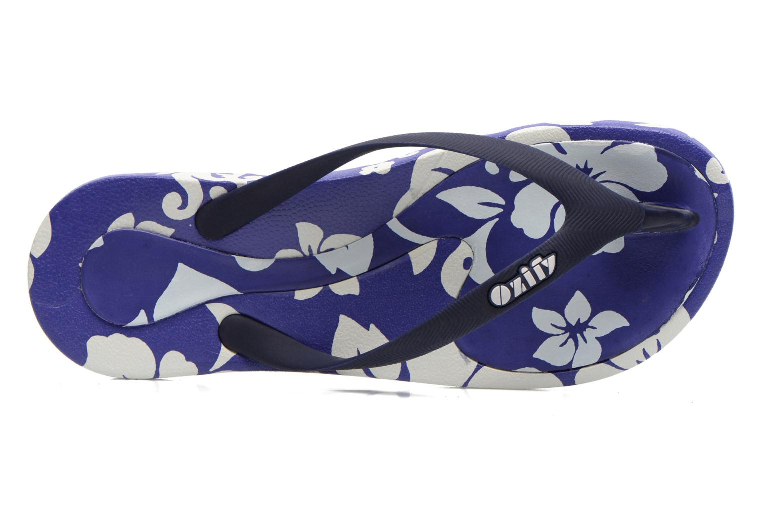 Slippers Ozify Prints M Blauw links