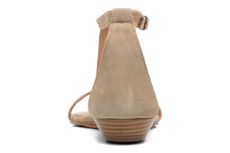Sandales et nu-pieds Georgia Rose Lulab Beige vue droite