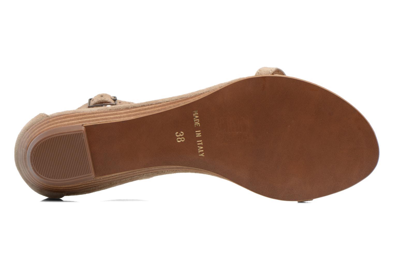 Sandales et nu-pieds Georgia Rose Lulab Beige vue haut
