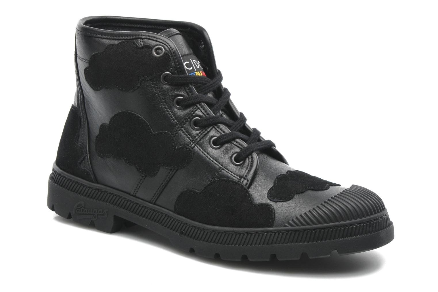 Sneaker Pataugas Authentique JCDC Cloud schwarz detaillierte ansicht/modell