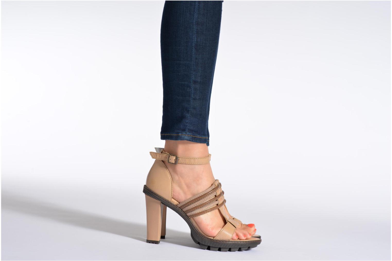 Sandales et nu-pieds Pataugas Faty/MC Beige vue bas / vue portée sac