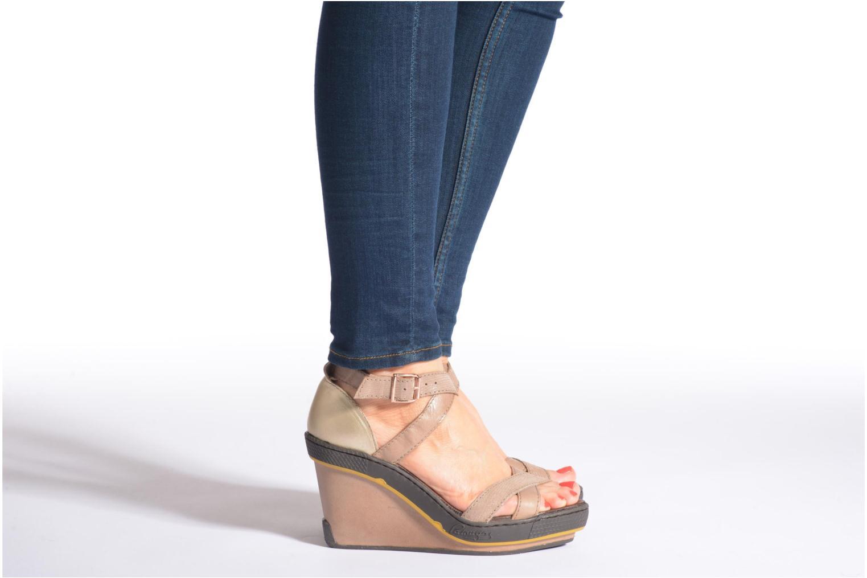 Sandales et nu-pieds Pataugas Gouy Rouge vue bas / vue portée sac