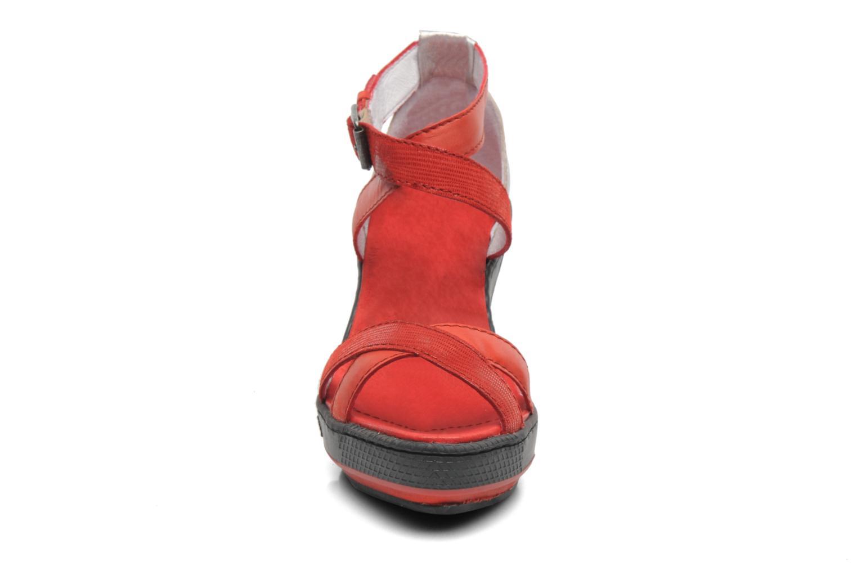 Sandales et nu-pieds Pataugas Gouy Rouge vue portées chaussures