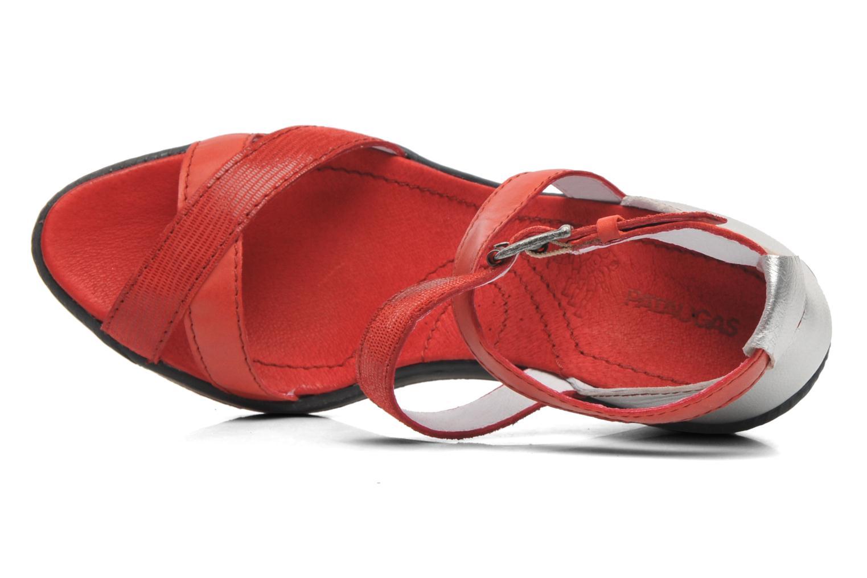 Sandalen Pataugas Gouy rot ansicht von links