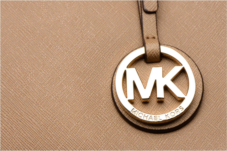 Sacs à main Michael Michael Kors JET SET TRAVEL MD TZ Multi Tote Beige vue gauche