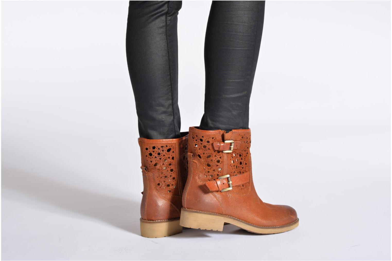 Bottines et boots Geox D New Virna B Beige vue bas / vue portée sac