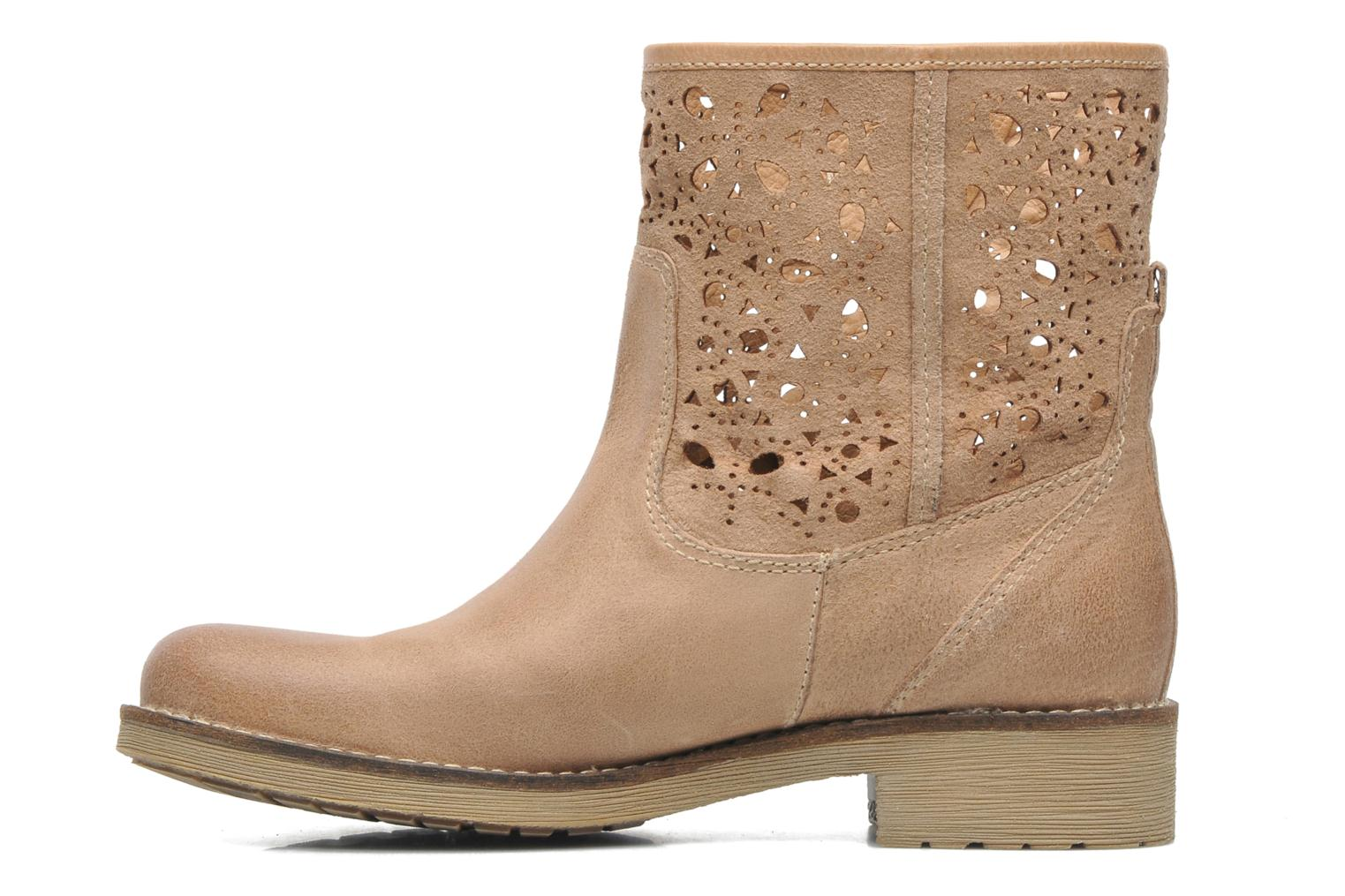 Ankle boots Geox D New Virna B Beige front view