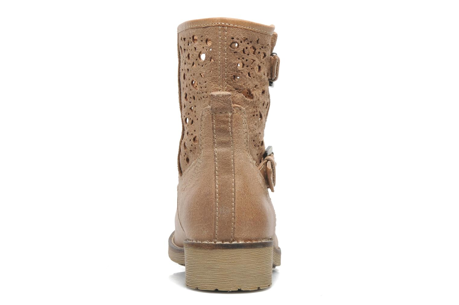 Ankle boots Geox D New Virna B Beige view from the right
