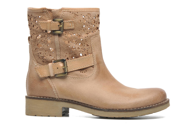 Bottines et boots Geox D New Virna B Beige vue derrière