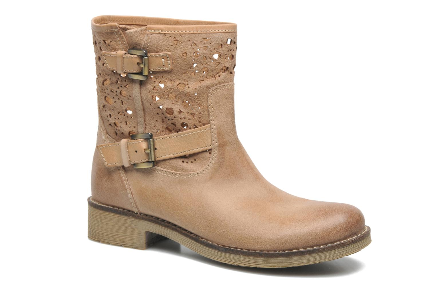 Ankle boots Geox D New Virna B Beige detailed view/ Pair view