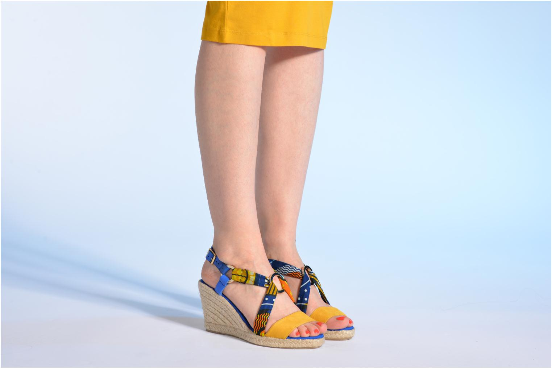 Sandales et nu-pieds Made by SARENZA Bamako #5 Multicolore vue bas / vue portée sac