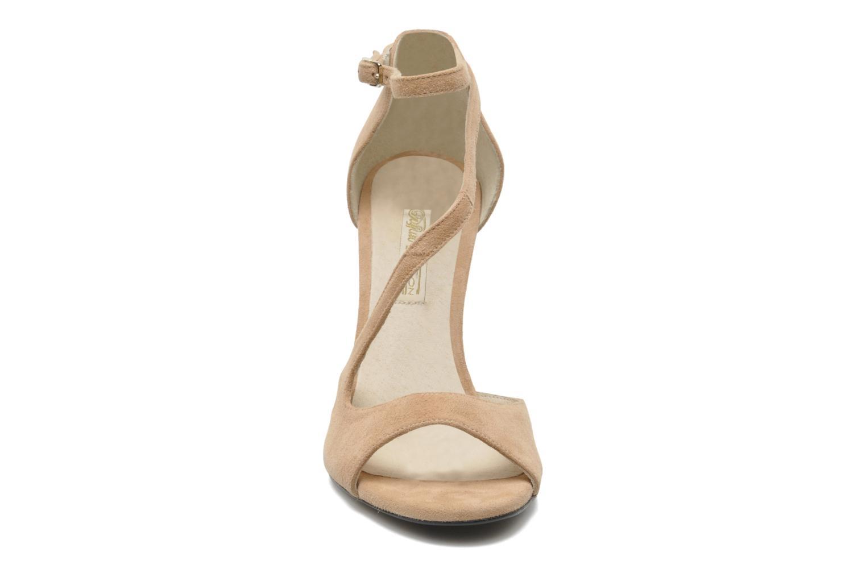 Sandalen Buffalo Sofia rosa schuhe getragen