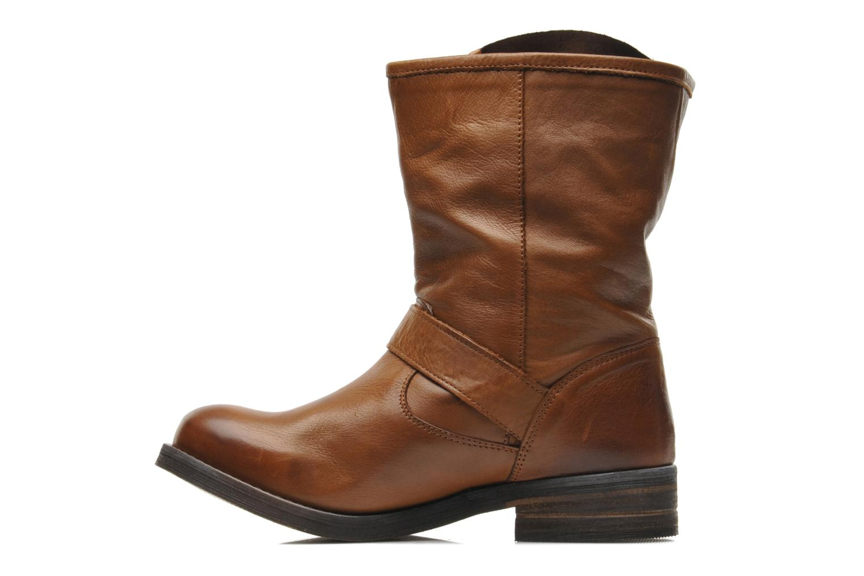 Bottines et boots Buffalo Clara Marron vue face