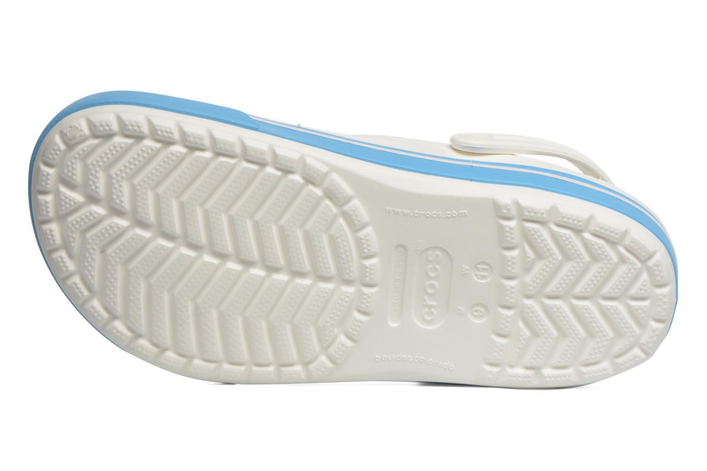 Sandales et nu-pieds Crocs Crocband II.5 Clog Blanc vue haut