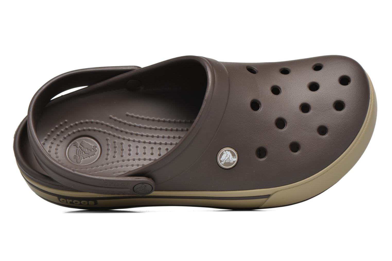 Sandales et nu-pieds Crocs Crocband II.5 Clog Marron vue gauche