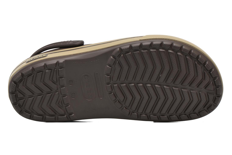 Sandales et nu-pieds Crocs Crocband II.5 Clog Marron vue haut