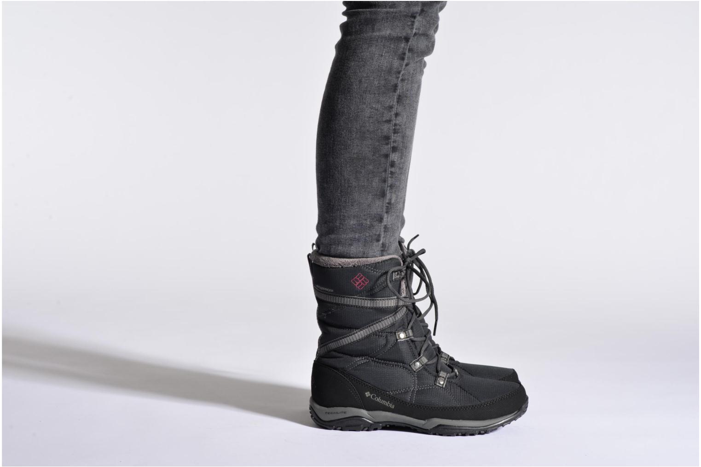 Chaussures de sport Columbia Minx Fire Tall Omni-Heat Waterproof Noir vue bas / vue portée sac